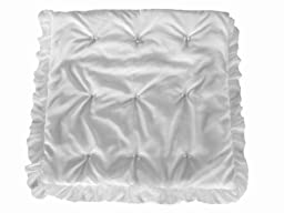 Baby Doll Bedding  Layered Crib Comforter, White