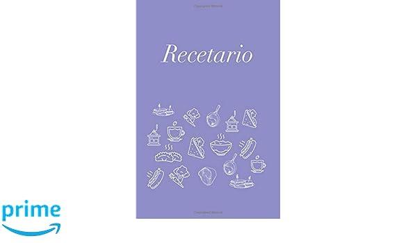 Recetario: Libreta a rayas pequeña, libro de recetas, recetario en blanco para escribir. Regalo original perfecto para mujer, hombre.
