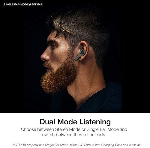 XClear Wireless Earbuds with Immersive Sounds True 5.0 Bluetooth in-Ear Headphones with Charging Case/Quick-Pairing Stereo Calls/Built-in Microphones/IPX5 Sweatproof/Pumping Bass for Sports Black 41MCGJeerFL