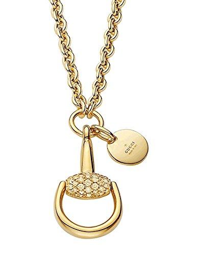 design di qualità 98c1d 78d1d Gucci Collana horsebit oro 18ct e diamanti YBB35704200100 ...