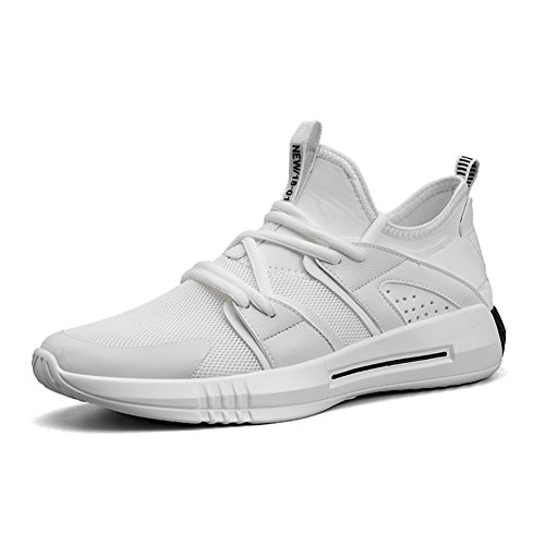 Running Sport Shoes for Men Breathable Mesh Casual Outdoor Sports Shoes White