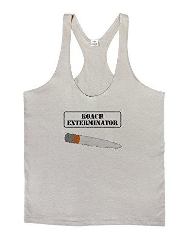 Roach Exterminator - Marijuana Mens String Tank Top - Light Gray - Large