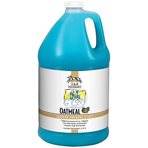 Pet Grooming Shampoo Gallon High Concentrate Formula Pro Groomers Dilutes 64:1(Oatmeal)