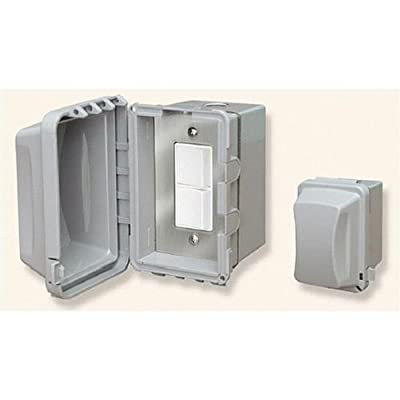 Infratech 14 4320 Accessory - Single Duplex Switch Surface Mount & Gang Box 20 Amp Per Pole, Patio Heater Switch and Wall Plate