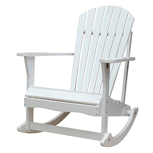 International Concepts  R-52581 Adirondack Porch Rocker, White