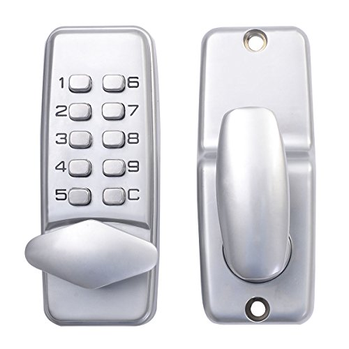 Safstar Keyless Mechanical Keypad Code Digital Locker Home Entry Security Safety Door Lock