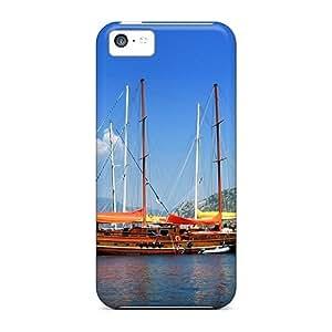 MZeOe1757GagVP NikRun Old Ship At Sea Durable Iphone 5c Tpu Flexible Soft Case