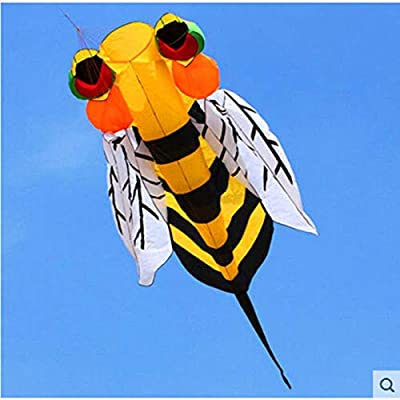 Free Shipping Soft Bee Kite Nylon Ripstop Outdoor Toys Flying Kite Tails Beach Fun Kite Line Parachute Kites for Adults Octopus Funny Sports Toy Gift Funny Sport Outdoor Playing Toys: Toys & Games