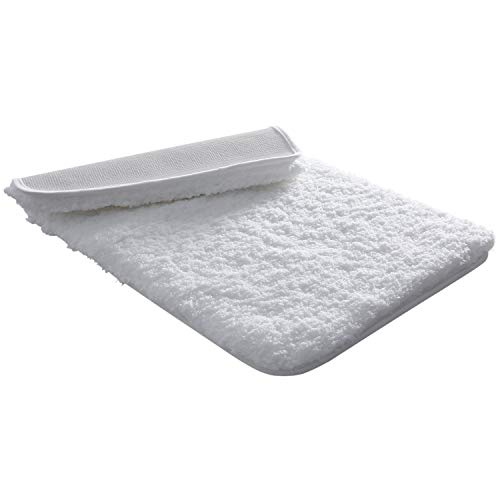 """Lifewit Bath Mat White Bathroom Rug Soft Shag Water Absorbent with Non-Slip Rubber, 20"""" x 32"""""""
