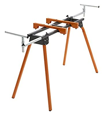 BORA Portamate PM-4000 - Heavy Duty Folding Miter Saw Stand with Quick Attach Tool Mounting Bars