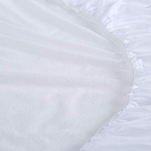 Vibe Premium Fitted Washable Terry Cloth Waterproof Mattress Pad, King