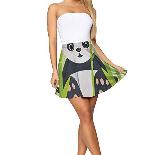 Womens Dress,Sweet Panda Bamboo Tree Funny Vine Skirt for Running Size:XL