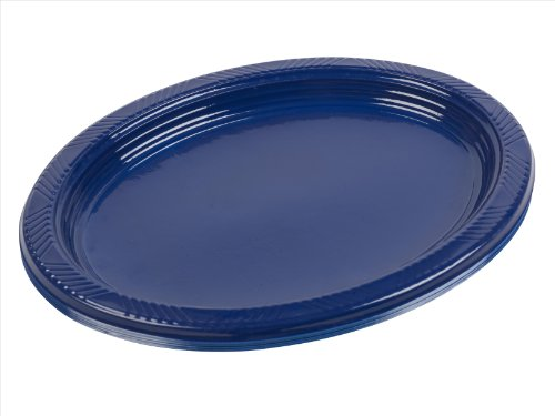 Panorama Plastic Oval Platters 12 Inch 5 Colours (Blue, 10)