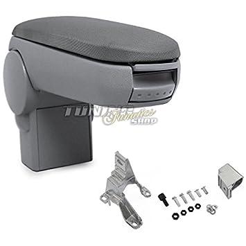 Fahrzeugspezifisch Mittelarmlehne // Mittel-Armlehne mit klappbarem staufach // Mittel-konsole Farbe: GRAU Bezug: Stoff//Textil