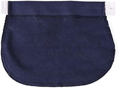 Healifty 妊娠中の女性や妊娠中の母親のための3本の弾性パンツウエストエクステンダマタニティパンツエクステンダ(ネイビー)