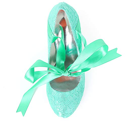Kitten De Fall Ribbon L Satin Pumps Classic Green Las Spring Heels FY562 Silk Boda Zapatos De 9cm YC Mujeres ggnpSW7q
