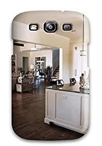 Fashionable Style Case Cover Skin For Galaxy S3- Large Kitchen Island With View Of Adjacent Family Room