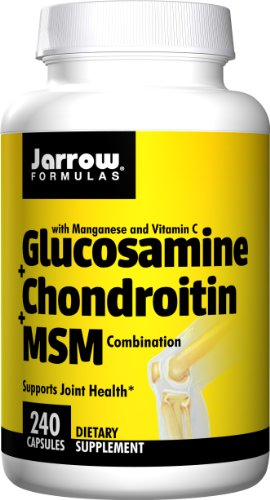 - Jarrow Formulas Glucosamine and Chondroitin and MSM, Supports Joint Health, 240 Caps