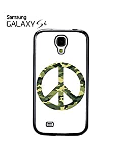 Army Pattern Paece Sign Mobile Cell Phone Case Samsung Galaxy S4 Black