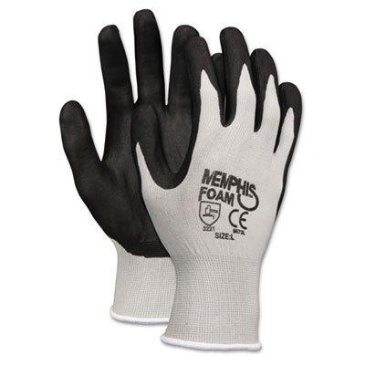 Memphis Economy Foam Nitrile Gloves, Small, Gray/Black, Dozen