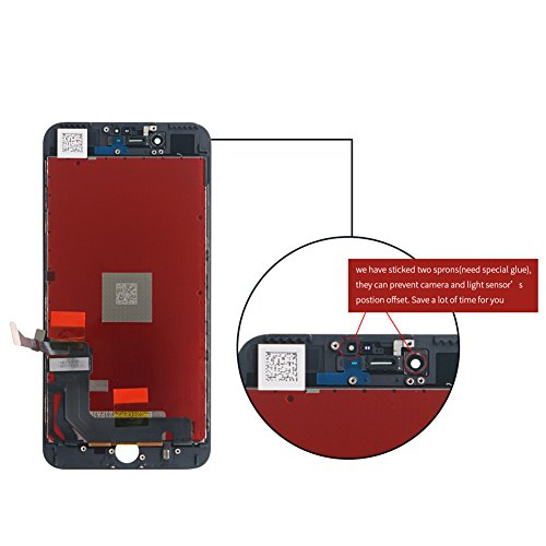 Screen Replacement for iPhone 7, Including All Tools, Instruction, 2 Screen Protectors, Repair Kit With Digitizer LCD Touch Screen Frame Assembly