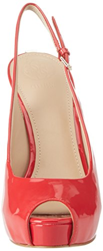 Guess Footwear Dress Sling Back, Scarpe Col Tacco con Plateau Donna Rosso (Medium Red)