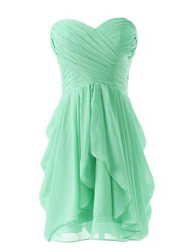 Dressystar Short Strapless chiffon party dress evening dress Mint 4