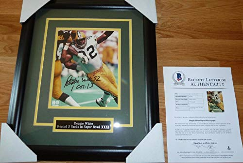 Beckett-Bas Reggie White Green Bay Packers Autographed Signed 8x10 Framed Photo-Photograph 2 - Certified Signature