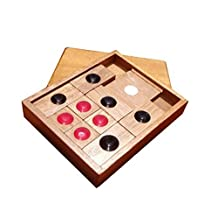 Classic Wooden Brain Teaser Slide Escape Maze Puzzle Board Game Educational Toy for Kids and Adults