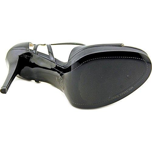 Michael Michael Kors Belle Sandal Pelle Sandalo con la Zeppa