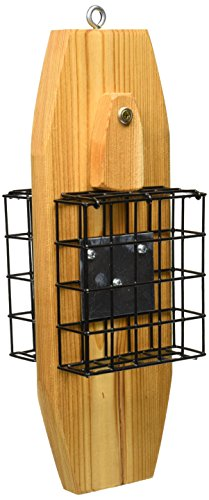 (Stovall 2SW Wood Double Suet Wire Basket Feeder)
