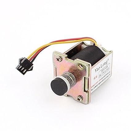 DealMux de gas del calentador de agua ZD131B DC 3V 3 Terminal electroimán del solenoide de