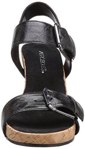 Aerosoles Sandalias de cuña de la mujer Mega peluche Negro