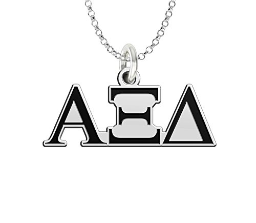 (Alpha Xi Delta Sterling Silver Antique Letters Charm)
