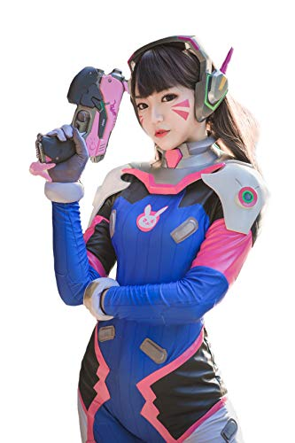 Women's Bodysuit OW D.Va Hana Song Cosplay Costume Halloween Outfit