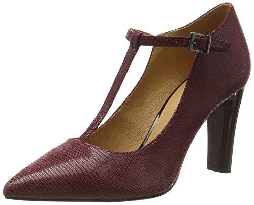 24401 Bordeaux Caprice Zapatos para Tacón de Rept Rojo Mujer 76qPZdw6