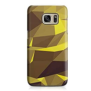 Samsung S7 Edge Case Yellow Geomaterical Pattern Metal Plate Light Weight Samsung S7 Edge Cover Wrap Around