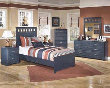 Leo Youth Bedroom Blue Nightstand