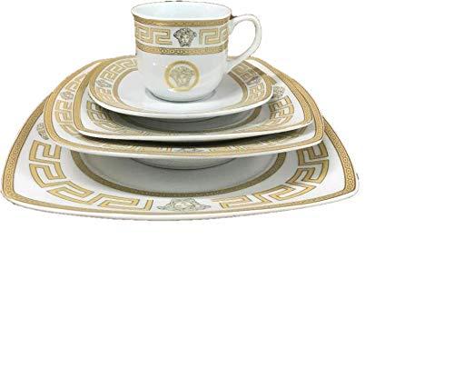 SMCS SQ1510B-49 Greek Key Dinner Set 8 person Gold