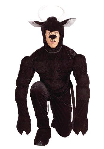 Forum Horny Bull Costume, Black, Standard -