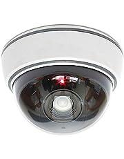 Dummy camera dummy met lens videobewaking warenbeveiliging bewakingscamera fake camera met rood LED-licht bedrieglijk echt voor muur plafond wit