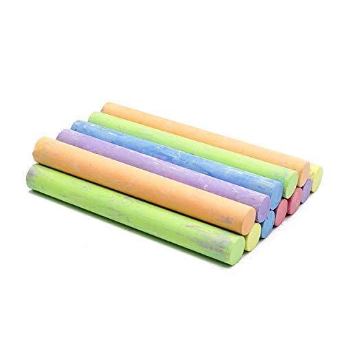 White Chalk (12 ct box) and Colored Chalk (12 ct box) Bundle Non-Toxic + Premium Chalkboard Eraser by True Decor (Image #3)