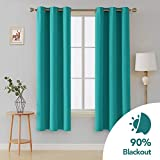 Deconovo Home Decorative Blackout Curtains Thermal Insulated Curtains Grommet Top Curtains Shades Curtains