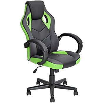 racing chair furniturer racing chair ergonomic executive swivel leather office chair racing style task gaming chair highback computer support chair green