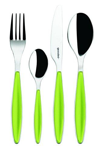 (Guzzini Feeling Apple Green 24-Piece Cutlery Set )