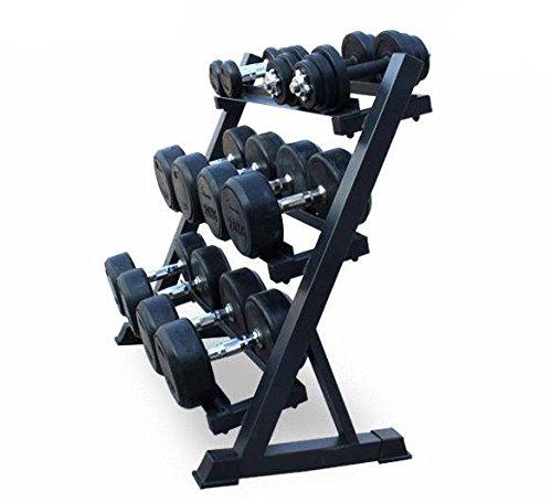 Soporte de almacenamiento para mancuernas de acero de 3 niveles para gimnasio: Amazon.es: Deportes y aire libre