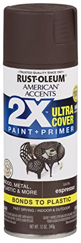 Rust-Oleum 327919 American Accents Spray Paint, 12 oz, Satin Expresso