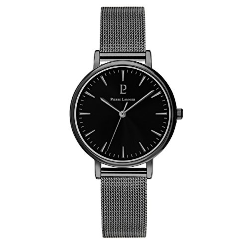 Pierre Lannier Symphony Black Milanese Bracelet Ladies Watch
