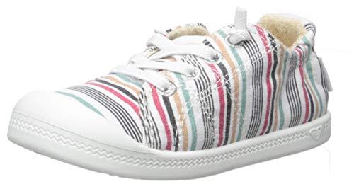 (Roxy Girls' TW Bayshore Slip On Sneaker Shoe, Multi Dream 2, 7 M M US Toddler)
