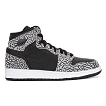 Jordan Big Kids Air Jordan 1 Retro High BG (black / cement grey / anthracite / gym red) Size 4 US